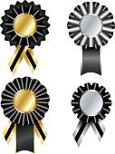 Set of commemorative vector ribbon