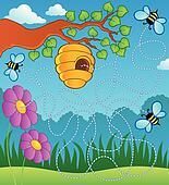 Bee theme maze