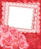 holiday frame for photo with rose