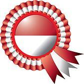 Indonesia rosette flag