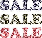 Sale sign for clothing stores