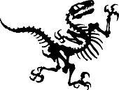 Vector Raptor Dinosaur Fossil
