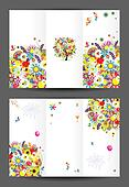 Birthday postcard, cover and inside page. Design for your print