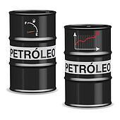 Oil crisis barrels - Spanish