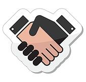 Agreement handshake icon - label