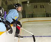 Hockey Player Ready to Play