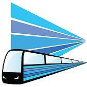train speed vector illustration