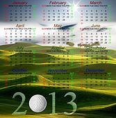 Golf Calendar of 2013