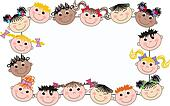 mixed ethnic children frame
