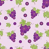 grape patchwork seamless