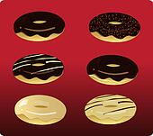 6 Assorted Doughnuts_stock