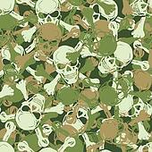 Vector. Seamless skull camouflage pattern