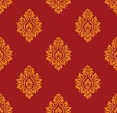 Vector. Seamless ancient damask pattern