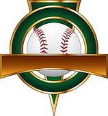 Baseball Design Template Triangle