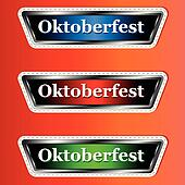 Three signs Oktoberfest