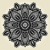 Delicate lace doily pattern