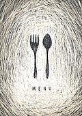 Art Restaurant Menu Concept Design. Vector.