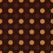 """Coffee dot"" seamless background, vector, EPS10."
