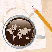 coffee with map