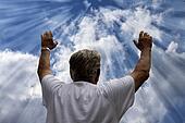 Man Praising God - Illustration