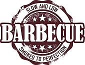 Vintage Barbecue Stamp