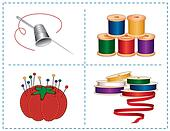 Sewing Accessories, Jewel colors