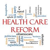 Health Care Reform Word Cloud Concept