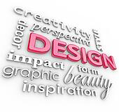 Design Words Collage Creative Perspective Style
