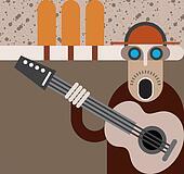 Musician - vector illustration