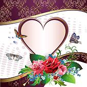 Illustration card with heart