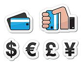 Shopping, payment methods, currency