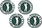 Golf Tournament Stamps