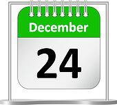 Calendar %u2013 December 24th