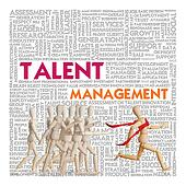 Wooden man run over the crowd for Human Resources concept, talent management