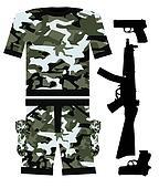 Military Shirt and gun
