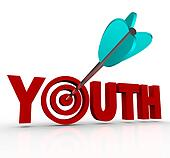 Youth Word Arrow in Target Stay Young Stop Aging