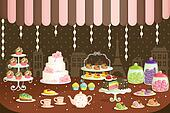 Cakes store display