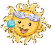 Sun Holding an Ice Cream