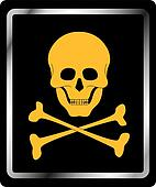 Danger sign - skull symbol