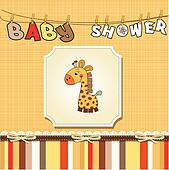 new baby announcement card with gir