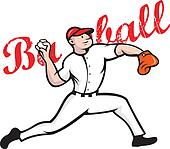 Baseball Pitcher Player Cartoon
