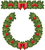 christmas holly wearth