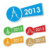 2013 Christmas tree icons