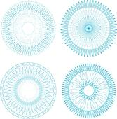 round guilloche element for certificate, money design