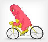 Funny Monster. Biker.