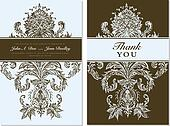 Vector Distressed Damask Backgrounds.