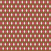 Pink & Brown Diamond Pattern