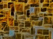 3D Golden Brown Stone Wall Background