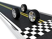 Car wheel race