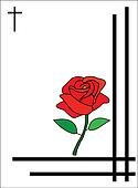 condolence card red heart